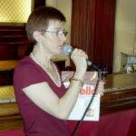 Clara durante la presentazione