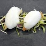 Triglia croccante con asparagi e agrumi