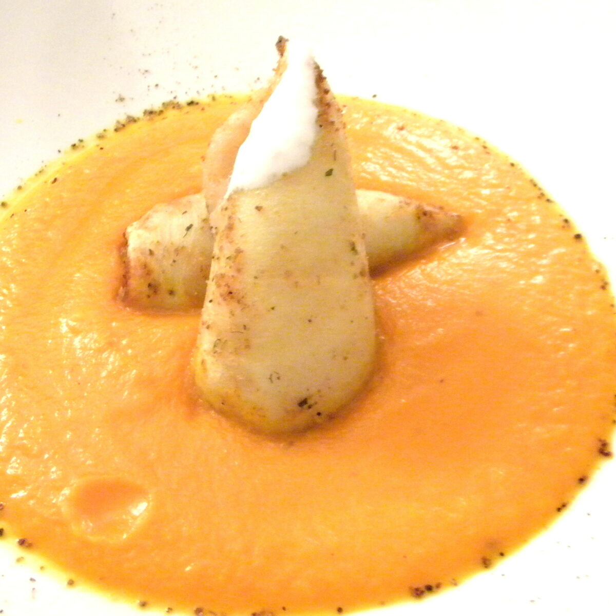 Crema di carote con i calamari: anti-aging