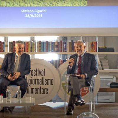 Stefano Cigarini e Gigi Padovani al Festival del Giornalismo Alimentare